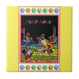 Play Ball Small Square Tile