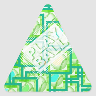 Play Ball. Triangle Sticker