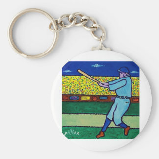 Play Baseball by Piliero Basic Round Button Keychain