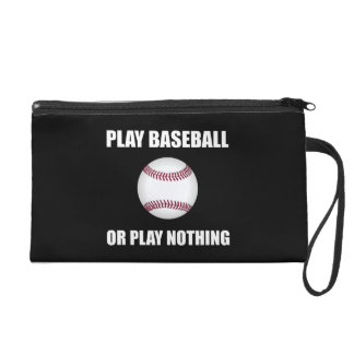 Play Baseball Or Nothing Wristlet Purse