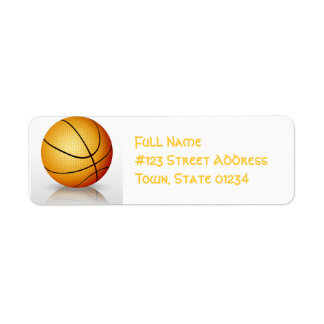 Play Basketball Mailing Labels