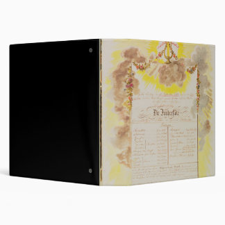 Play-bill for 'The Magic Flute' 3 Ring Binder