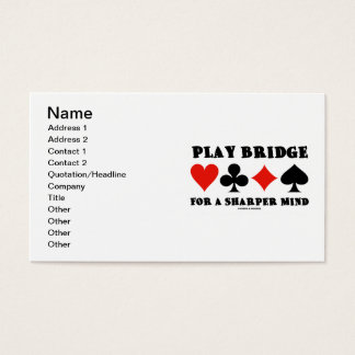 Play Bridge For A Sharper Mind (Four Card Suits)