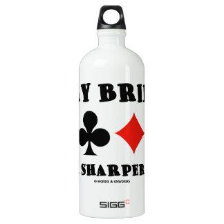 Play Bridge For A Sharper Mind (Four Card Suits) Aluminum Water Bottle