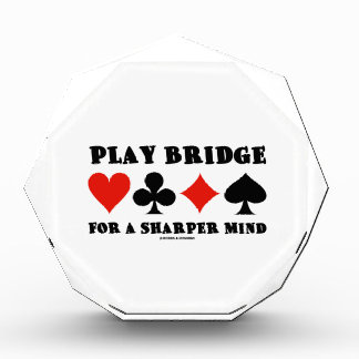 Play Bridge For A Sharper Mind (Four Card Suits) Acrylic Award