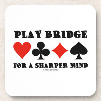 Play Bridge For A Sharper Mind (Four Card Suits) Coasters