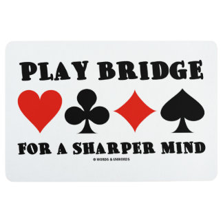 Play Bridge For A Sharper Mind Four Card Suits Floor Mat