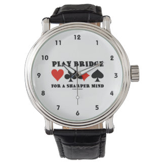 Play Bridge For A Sharper Mind Four Card Suits Watches