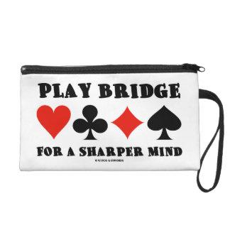 Play Bridge For A Sharper Mind Four Card Suits Wristlet Purse