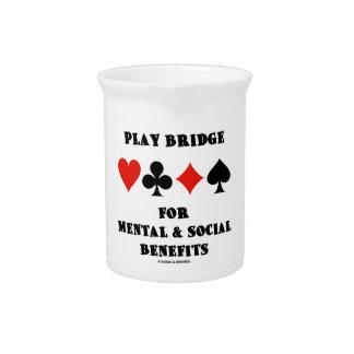 Play Bridge For Mental & Social Benefits Drink Pitcher