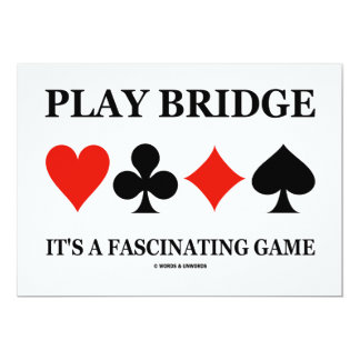 Play Bridge It's A Fascinating Game (Card Suits) Card