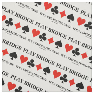 Play Bridge It's A Fascinating Game (Card Suits) Fabric