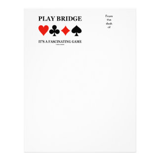 Play Bridge It's A Fascinating Game (Card Suits) Letterhead
