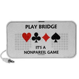 Play Bridge It's A Nonpareil Game Four Card Suits Portable Speaker