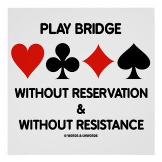 Play Bridge Without Reservation Without Resistance Poster