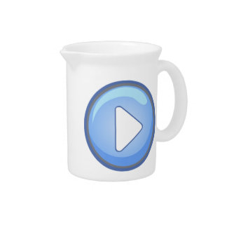 Play Button Beverage Pitchers