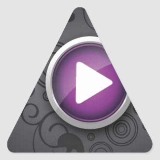 Play button triangle sticker