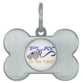 Play By Rules Pet ID Tag