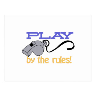 Play By Rules Postcard