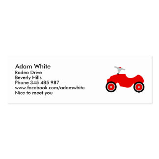 Play car mini business card