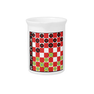 Play Checkers Gifts and T-Shirts Pitcher