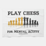 Play Chess For Mental Acuity (Reflective Chess) Hand Towel
