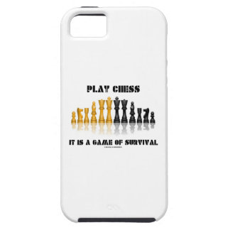 Play Chess It Is A Game Of Survival (Chess Set) iPhone SE/5/5s Case
