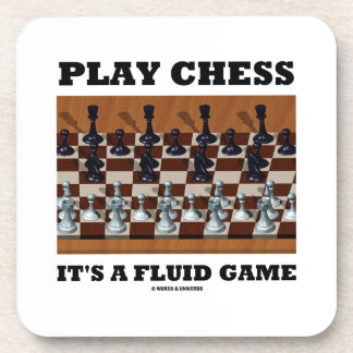 Play Chess It's A Fluid Game (Chess Stereogram) Coaster