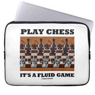 Play Chess It's A Fluid Game (Chess Stereogram) Laptop Sleeve