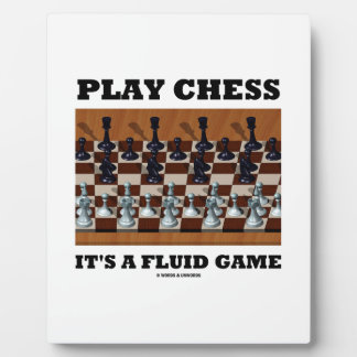 Play Chess It's A Fluid Game (Chess Stereogram) Plaque