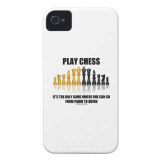 Play Chess Where One Can Go Pawn To Queen Case-Mate iPhone 4 Case