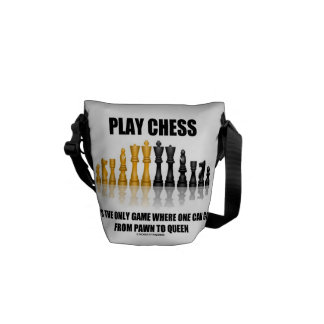 Play Chess Where One Can Go Pawn To Queen Courier Bag