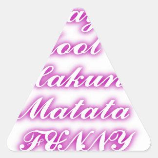 Play Cool Hakuna Matata .png Triangle Stickers