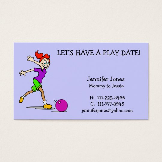 Play Date Calling Card