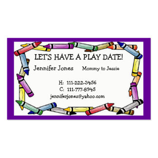 Play Date Calling Card Double-Sided Standard Business Cards (Pack Of 100)