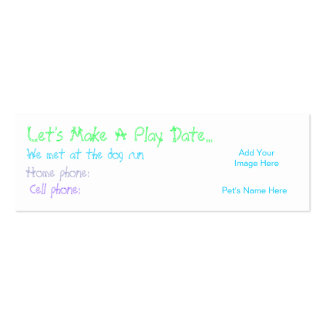 Play Date Calling Card Multi Double-Sided Mini Business Cards (Pack Of 20)
