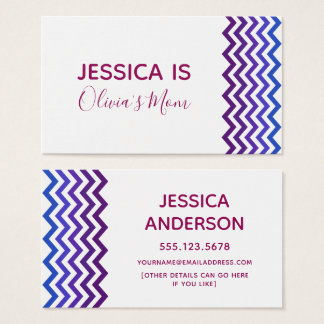 Play Date Card with Rose Purple & Blue Chevron