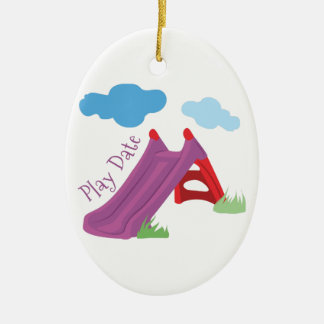Play Date Ceramic Ornament
