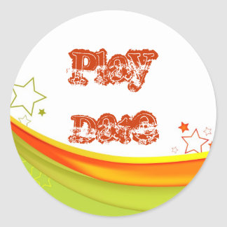Play Date Classic Round Sticker