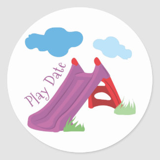 Play Date Classic Round Sticker