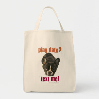 play date? text me! tote bag