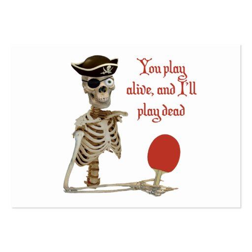Play Dead Pirate Ping Pong Large Business Cards (Pack Of 100)