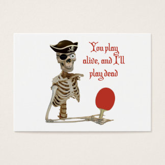 Play Dead Pirate Ping Pong Business Card