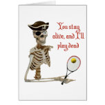 Play Dead Tennis Pirate Stationery Note Card
