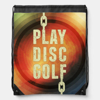 Play Disc Golf Drawstring Bag