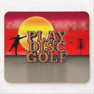 Play Disc Golf Mouse Pad