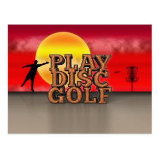Play Disc Golf Postcard