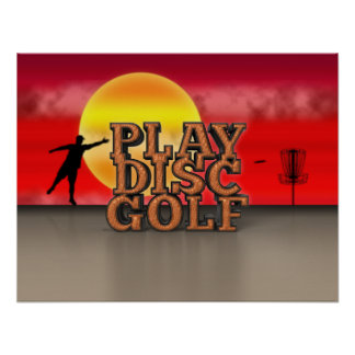 Play Disc Golf Poster