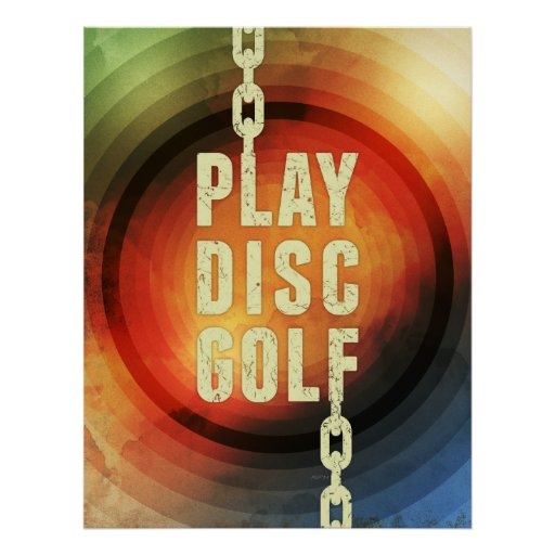 Play Disc Golf Posters