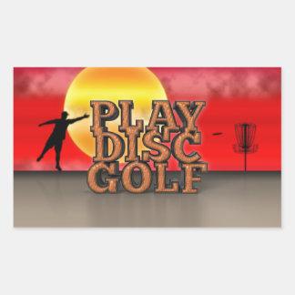Play Disc Golf Rectangular Stickers